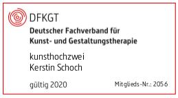 Mitglied im Deutschen Fachverband für Kunst- und Gestaltungstherapie (DFKGT)