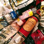 various tubes of oil paint