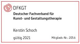 Digitaler Stempel Mitgliedschaft im Deutschen Fachverband für Kunst- und Gestaltungstherapie