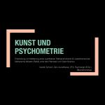 """Die Titelfolie einer Präsentation, auf der der Titel geschrieben steht: """"Kunst und Psychometrie: Entwicklung und Validierung eines quantitativen Ratinginstruments für zweidimensionale bildnerische Arbeiten (RizbA) unter den Prämissen von Open Science"""""""